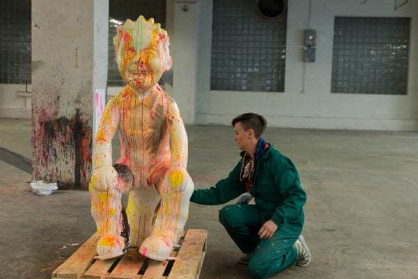 Oor Wullie and artist - Credit Dylan Drummond
